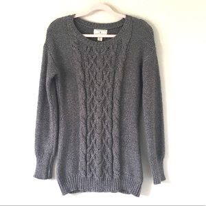 ruby moon Sweaters - Anthro Ruby Moon | Gray Cable Knit Tunic Sweater